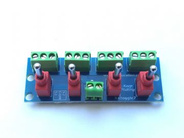 RKtoggle7 Toggle Switch Module for Model Railway  - Self Build Kit